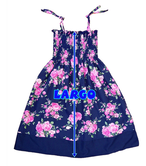 Vestido Solero Floreado Talles 12-14-16 Nena