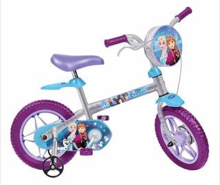 Bicicleta Infantil Bandeirante Frozen Disney Aro 12