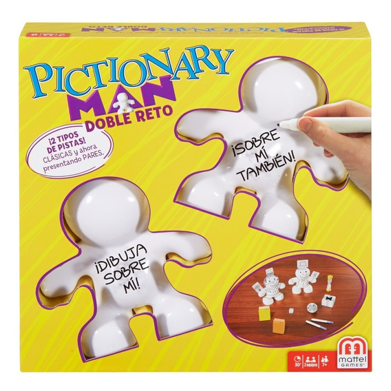Pictionary Man, Doble Reto, Juego De Mesa Familiar