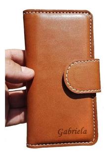 Funda Cartera Personalizada Con Broche Para Motorola