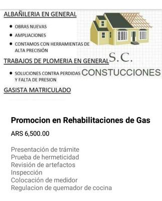 Rehabilitaciones De Gas Conecciones Y Obras Nuevas