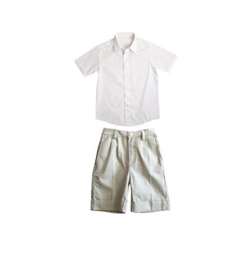 Camisa E Bermuda Social Para Pajem Bege Verão