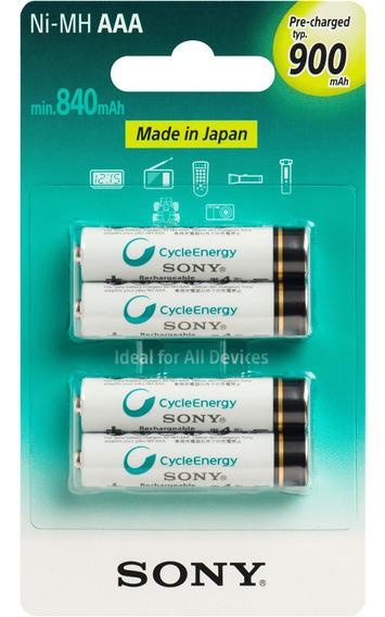 Pilhas Recarregáveis Sony Enellop Aaa 900mah Original C/nfe