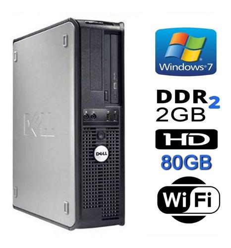 Cpu Dell Mini Optiplex 330 Dual 2gb Hd 80gb Wifi Dvd