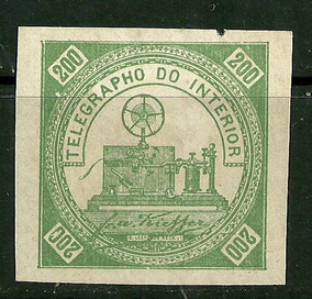 1871 - Telégrafo - Telegrapho - Rhm T4 Bola Branca