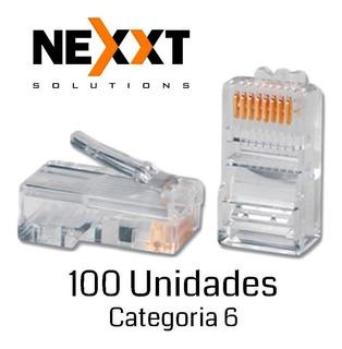 Conectores Nexxt Rj45 Cat6 (100/pck) Unidades