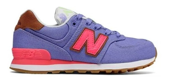 New Balance Zapatilla Lifestyle Niña Pc574t4 Lila/rosa