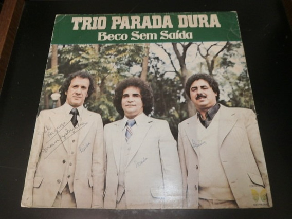 Capa Lp Trio Parada Dura - Beco Sem Saída, Disco Vinil - Obs