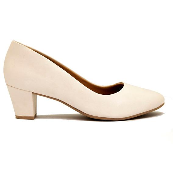Zapatos Clásicos Mujer Cuero Ecológico Blanco Ramarim 5cm P