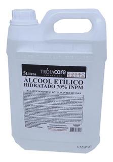 Álcool Etílico Hidratado 70% Inpm Galão 5 Litros Líquido!