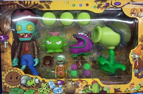 Set De Muñecos Planta Vs Zombie Con Lanzador  Modelo Único