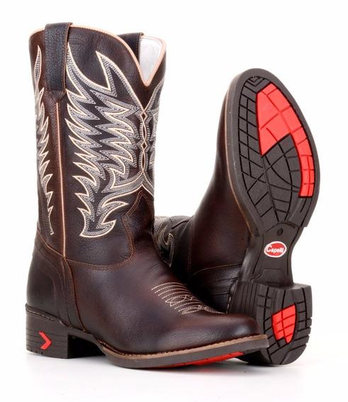 Bota Country Masculina Couro Legitimo Capelli Boots Marrom