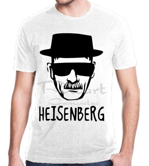 Camiseta Breaking Bad Heisenberg Walter White Série De Tv