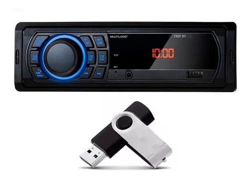 Mp3 Player 1din Usb Radio Multilaser Fm Bluetooth Carro