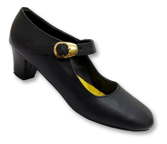 Zapatos De Danza Nacionalista - Tacón Correa Y Hebilla