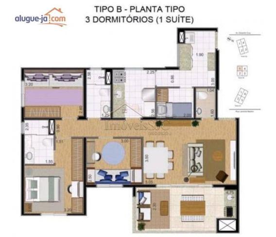 Apartamento Com 3 Dormitórios À Venda, 124 M² Por R$ 750.000 - Jardim Esplanada - São José Dos Campos/sp - Ap8404