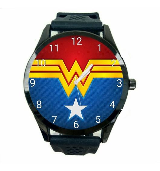 Relógio Mulher Maravilha Unissex Dc Comics Quadrinhos Heroi Novo T1093