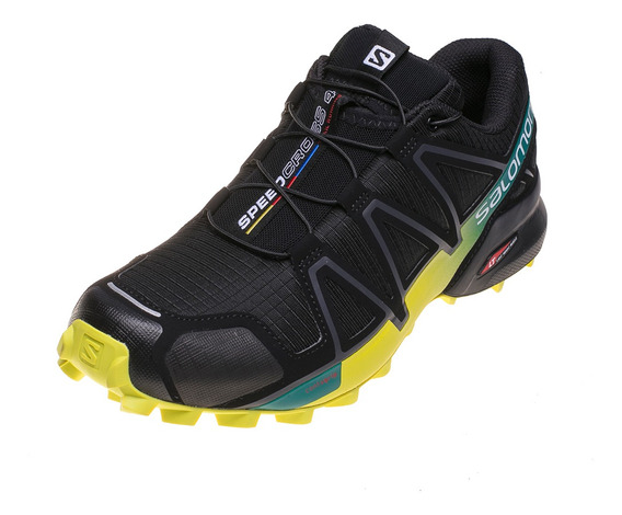 Zapatilla Salomon Speedcross 4negro Con Amarillo