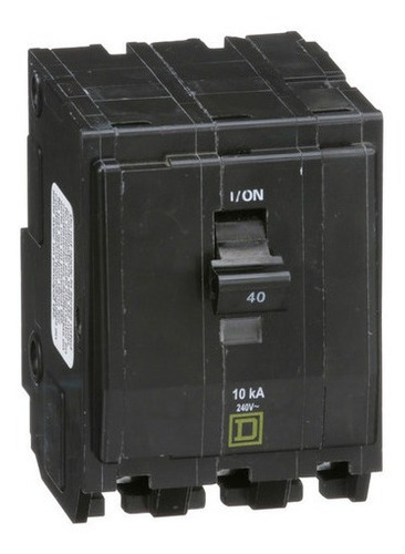 Imagen 1 de 3 de Pastilla Interruptor Termomagnético Qo340 3polo40a Schneider
