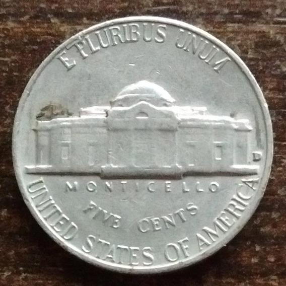 Moneda 5 Centavos Estados Unidos 1964 Muy Buena