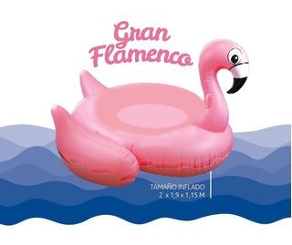 Inflable Pileta Flamenco Gigante Rosa Descansar 200x190x115