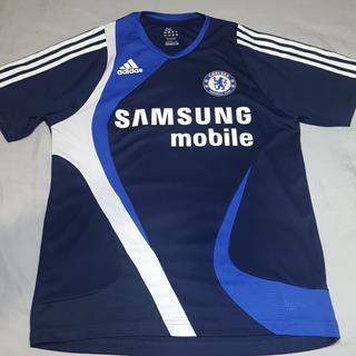 Camisa Chelsea Treino 2007 Azul Escuro P (49x67) Ótimo Estado Colecionadores Usado