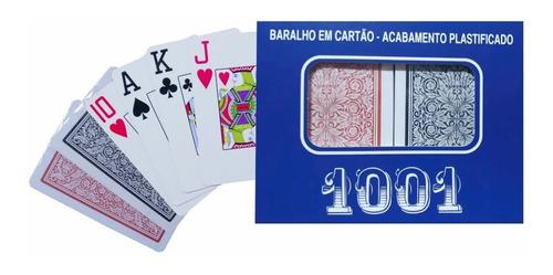 Imagem 1 de 3 de Jogo Baralho Copag 1001 Duplo Plástico 110 Cartas Oferta.