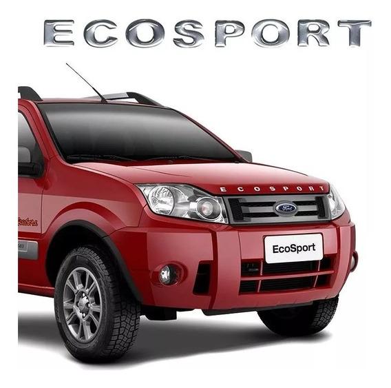 Emblema Letreiro P/ Capô Ecosport 03/10 Cromado Resinado