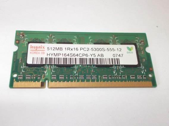 Memoria Notebook 512 Mb 1rx16 Ddr2 Pc2 5300s 555 12 (10903)