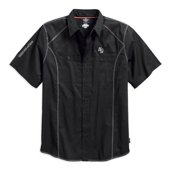 Harley Davidson Camisa Performance Coldblack Woven Original