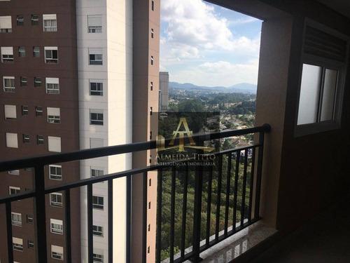 Imagem 1 de 15 de Apartamento Com 1 Dormitório Para Alugar, 44 M² Por R$ 2.500,00/mês - Empresarial 18 Do Forte - Barueri/sp - Ap3473