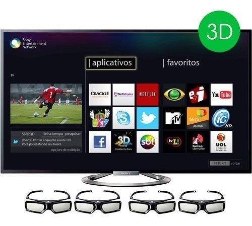 Smart Tv Sony 55 Polegadas 3d Com Pip Kdl-55w955a