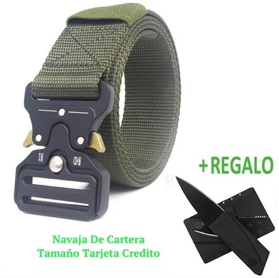 Cinturón Táctico Tipo Asalto Militar + Tarjeta 11-1 Y Navaja