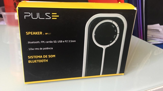 Caixa De Som Bluetooth Color Series 10w Branco Sp207 Pulse
