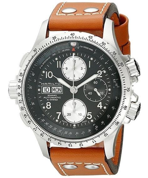 Rélogio Hamilton H77616533 Khaki Cronografo Automatico 44mm
