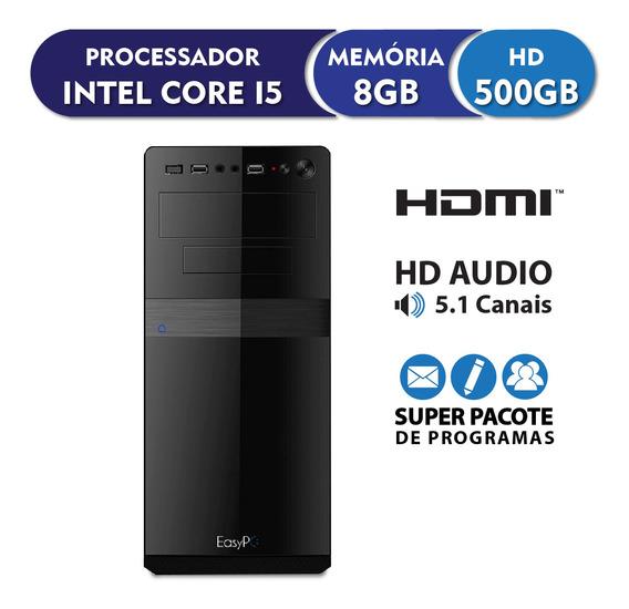 Computador Intel Core I5 8gb 500gb Áudio 5.1, Easypc