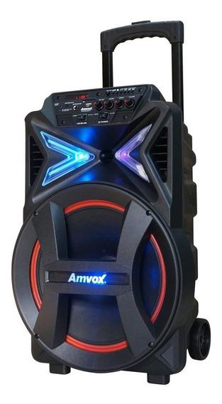 Caixa Amplificada Amvox Bluetooth Tws Aux 290w Aca 292 New X