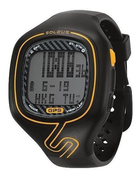 Relógio De Pulso Soleus Gps Vibe - Preto/laranja