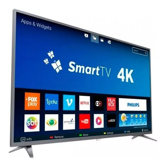 Smart Tv 4k Ultra Hd Philips 6500 Series Led 50 Polegadas