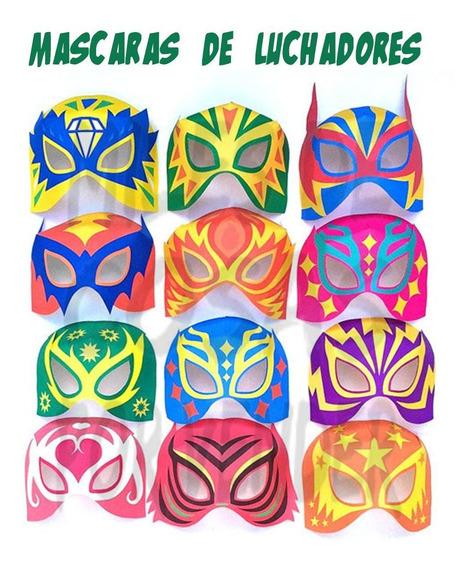 Luchadores Para Pintar Mascaras Invitaciones Y Tarjetas