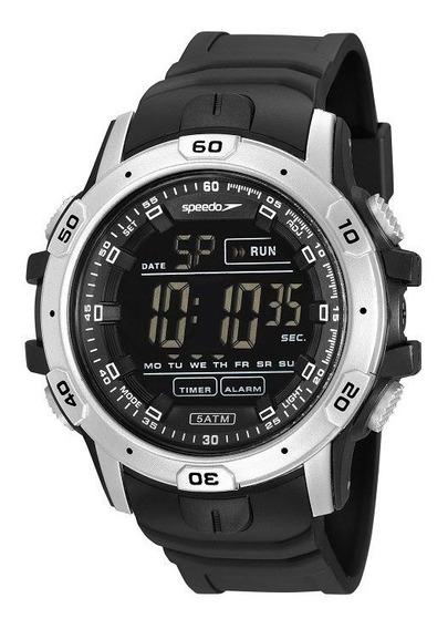 Relógio Speedo Masculino Digital Esporte 11016g0evnp1 - Nota Fiscal E 1 Ano De Garantia