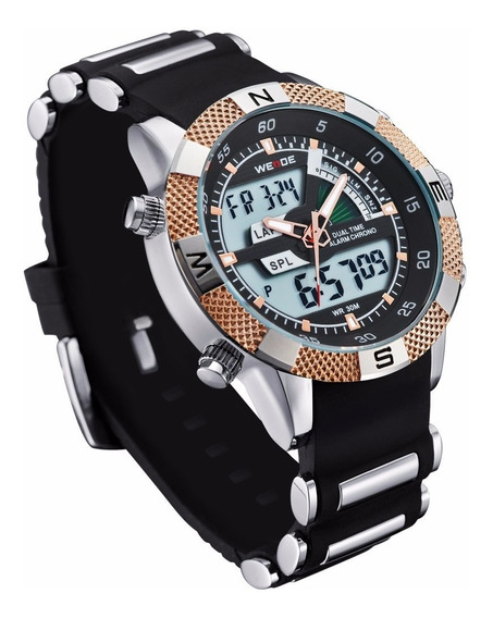 Relógio Masculino Pulso Weide Digital Wh-1104 - Frete Grátis