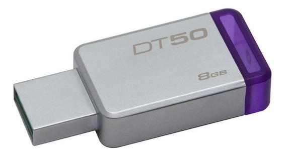 Pendrive Kingston DataTraveler 50 8GB prateado/violeta