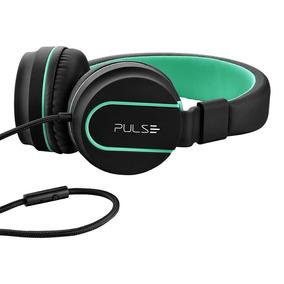 Over Ear Wired Stereo Áudio Preto E Verde - Ph159