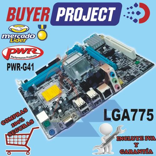 Mainboard Pwr Intel G41 Lga775 Ddr3 Video Vga Pci Ps2 Lan
