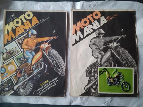 Álbum Moto Mania Completo + Raro Encarte Posteres - 1977