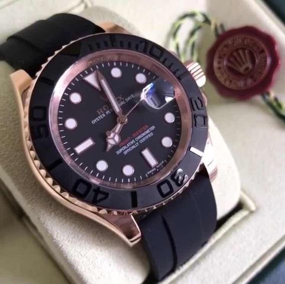 Relógio Rolex Yachmaster ,automático, Safira,acab Suíço