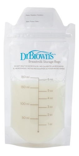 Bolsas Para Almacenar Leche Materna Dr Browns 25 Piezas