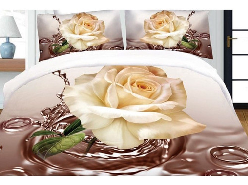 Juego De Sabanas 1 Plaza Linea Zyporah Cotton Flor