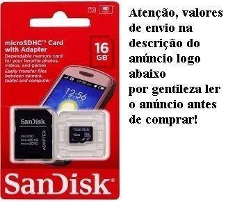 Cartão De Memória Micro Sd 16 Gb